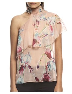 Top estampado con volante