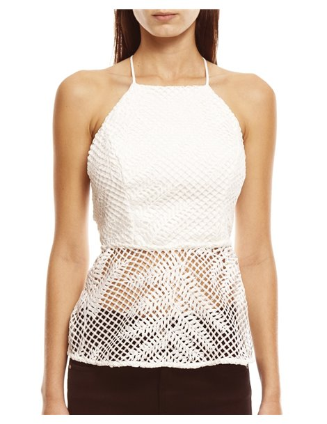 Top blanco transparencias